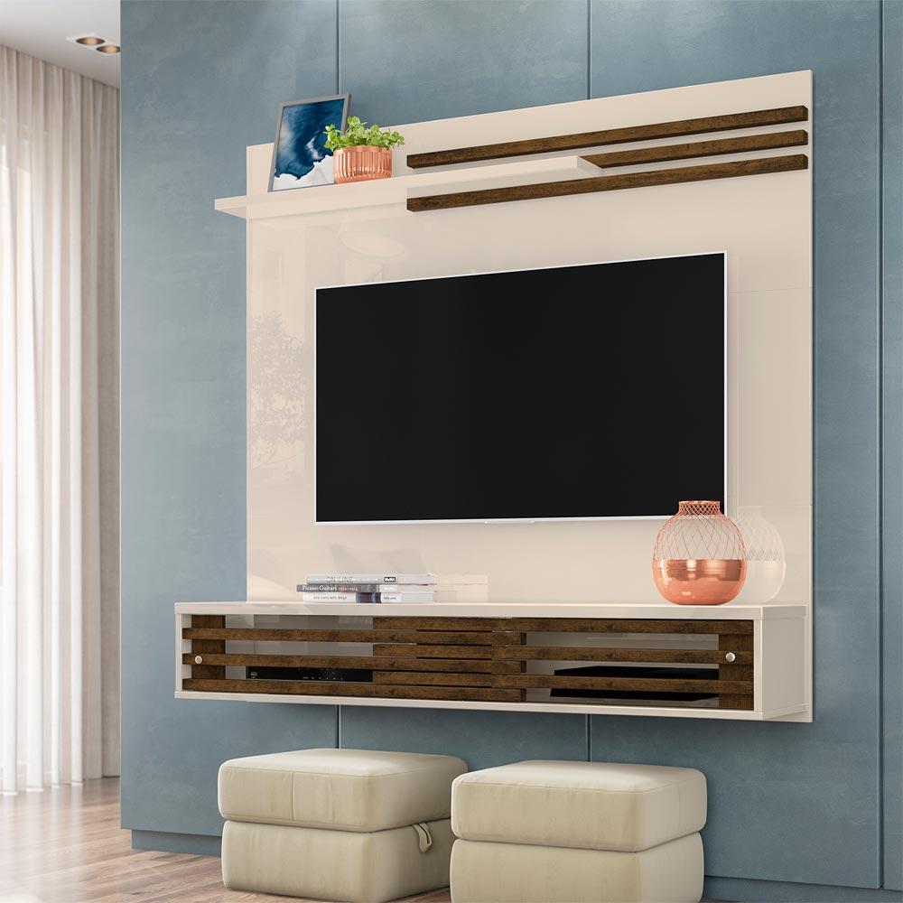 Painel Home para TV até 55 Polegadas Frizz Sublime Off-White/Savana - Madetec