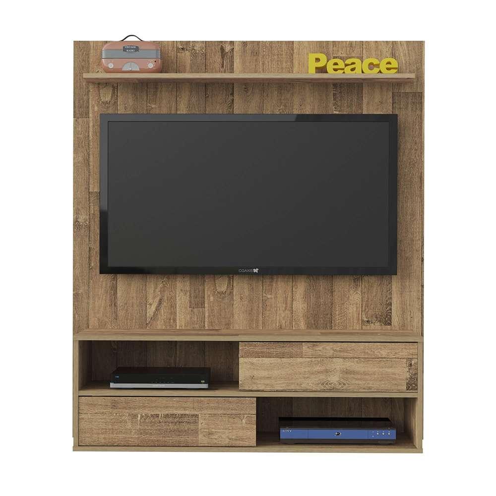 Painel para TV até 47 Polegadas com Nicho 2 Portas Dallas Rústico - Artely