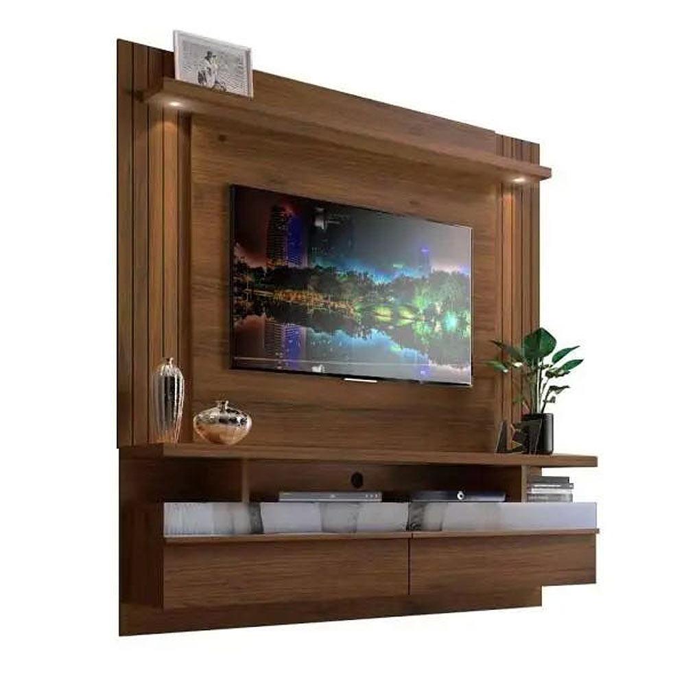 Painel para TV Até 65 Polegadas com LED e 2 Portas São Luis 1.8 Nogueira - Línea Brasil