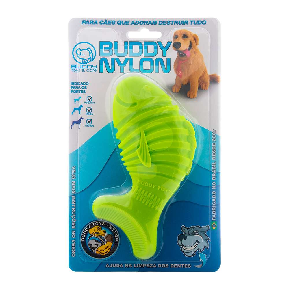 Peixe Nylon Brinquedo Mordedor - Buddy Toys