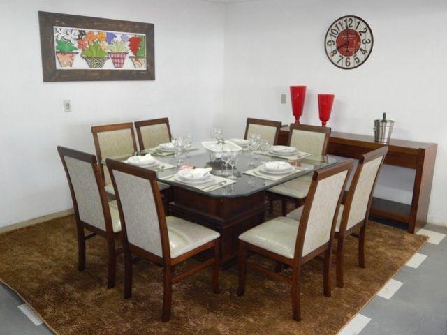 Base de mesa 60x60 Com Enfeite Madeira Maciça