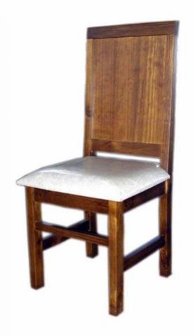 Conjunto 4 Cadeiras Assento Estofado Madeira Maciça