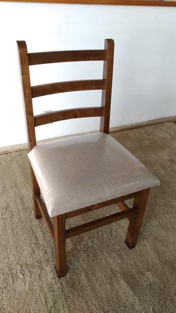 Conjunto 4 Cadeira Assento Estofado Madeira Maciça BocaRica221