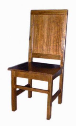 Cadeira Assento Madeira Maciça