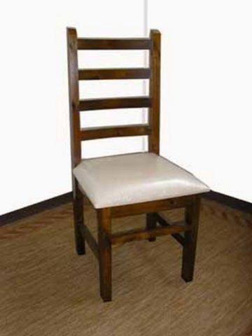 Conjunto 4 Cadeiras Estofadas Madeira Maciça