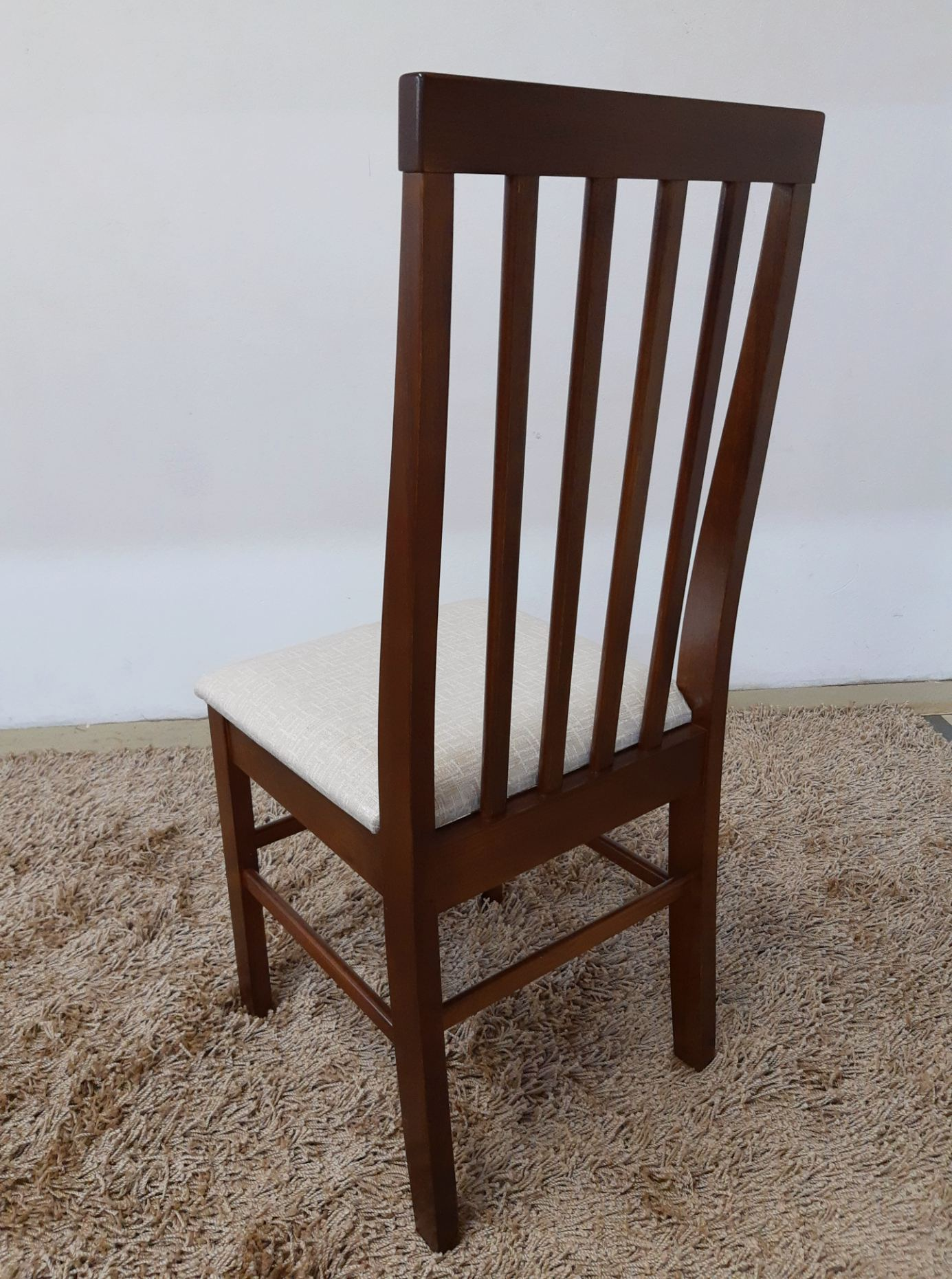 Conjunto 4 cadeiras assento estofado