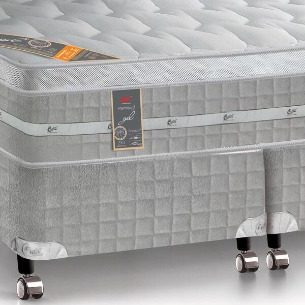 Colchão com Box Premium Gel Poket 1,93