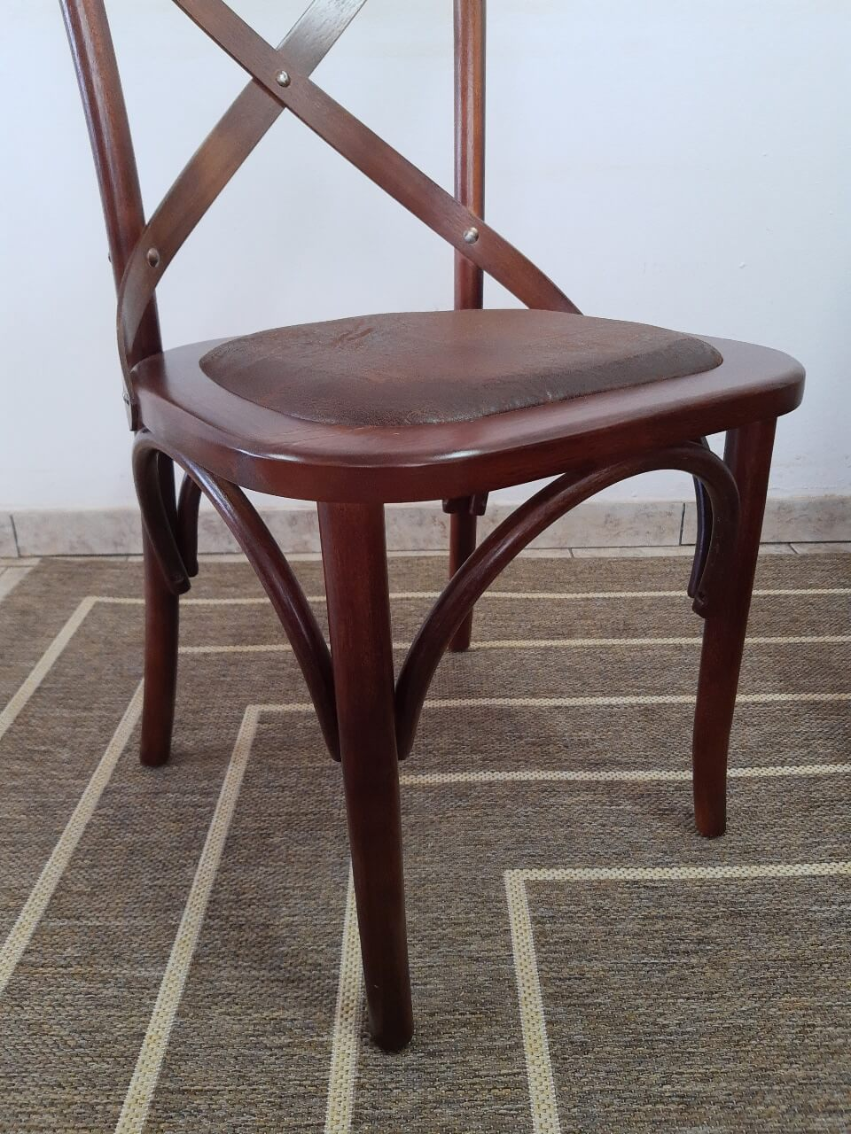 Conjunto 4 cadeiras assento estofado MX02