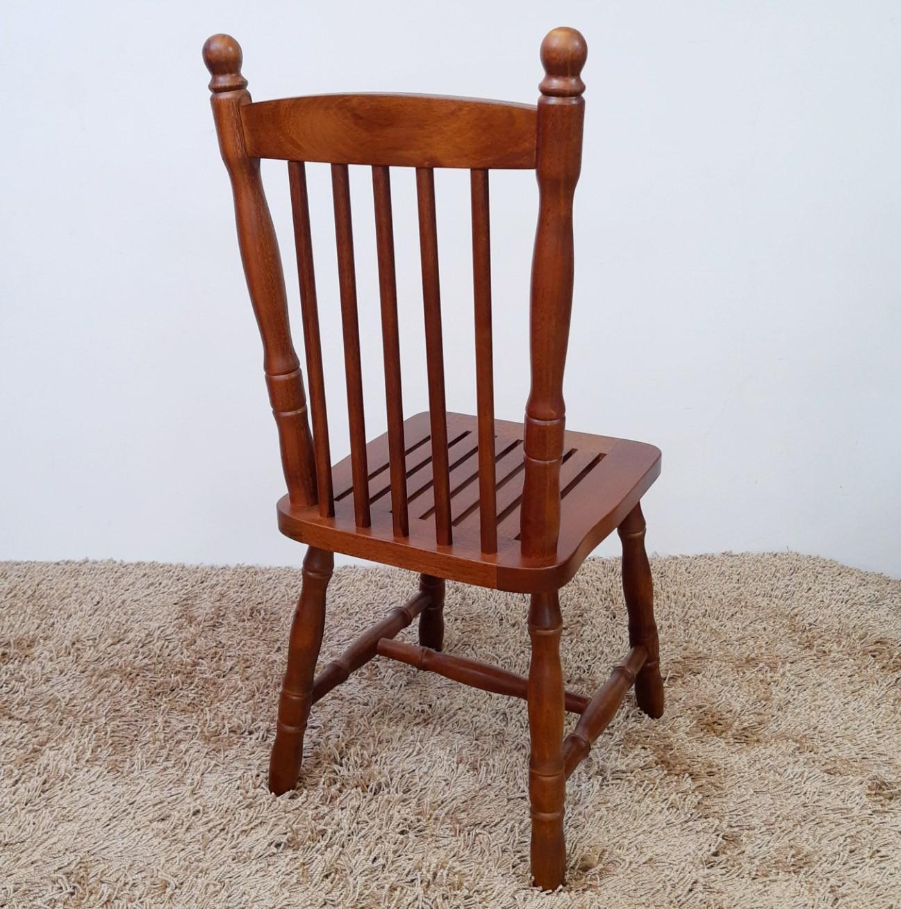 Conjunto 4 Cadeiras em Madeira Maciça