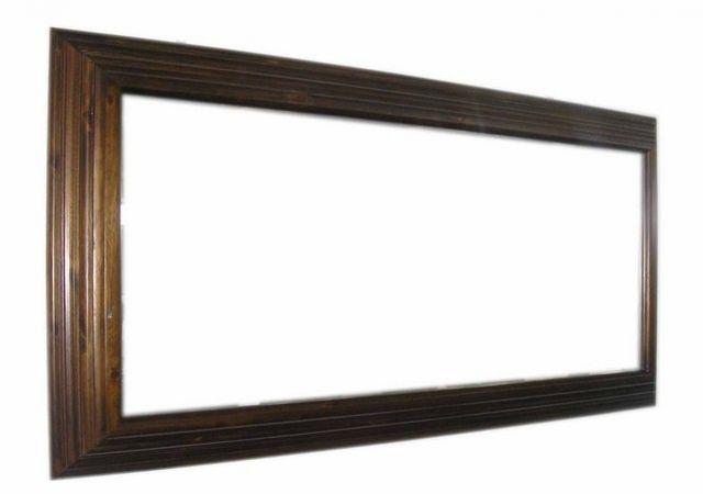 Quadro De Espelho Madeira Maciça