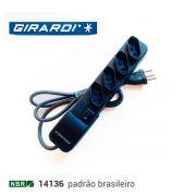 Filtro de Linha Bivolt Eco Extensão 4 Tomadas Preto Girardi