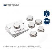 Kit 6 Ibutton para Bastão de Controle Ronda Vigia - Topdata Viggia