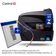 Relógio de Ponto Eletrônico iDClass 373 Biométrico + Prox +NOBREAK Control iD