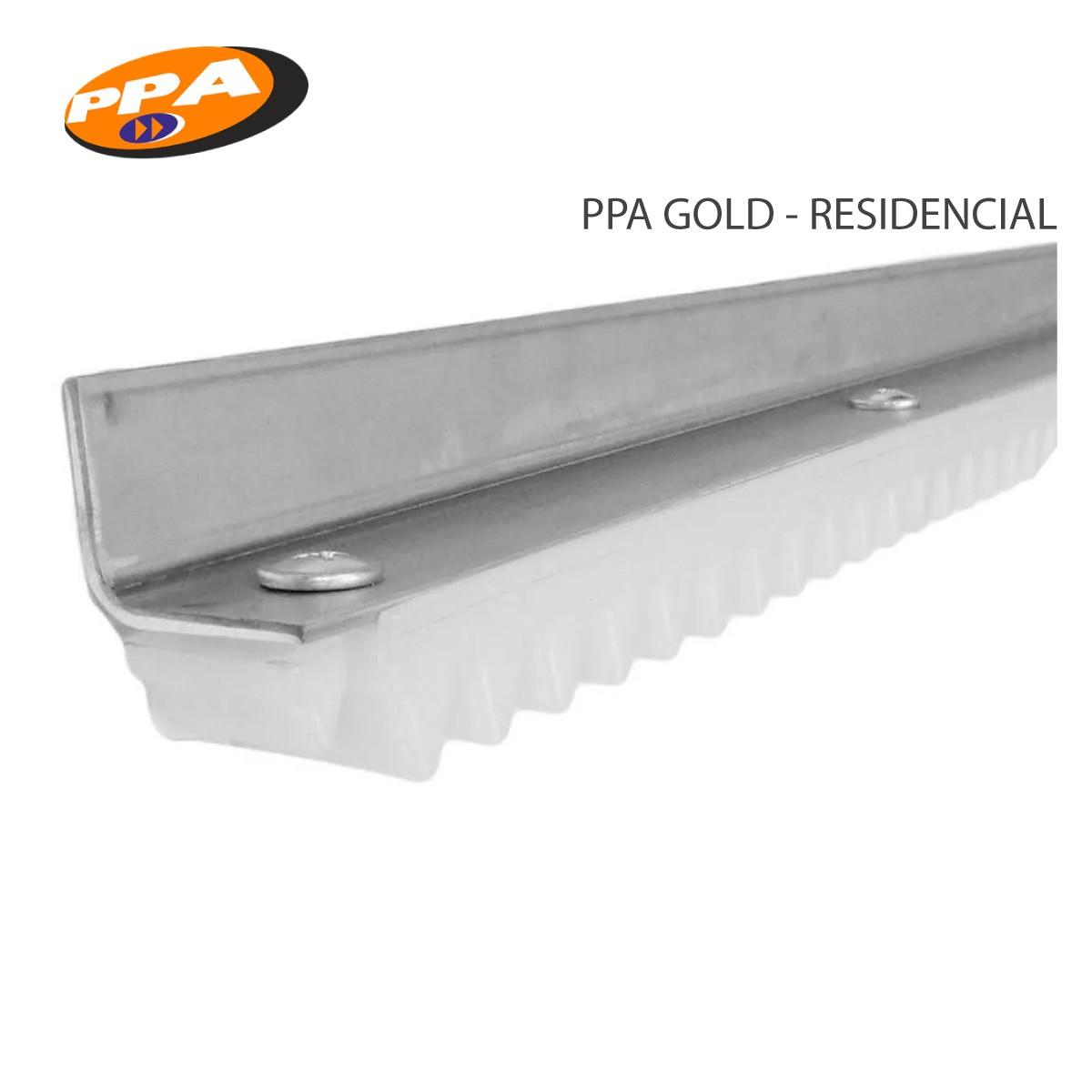 Barra Cremalheira Gold Trilho Branco - Portão Deslizante - Ppa 3m