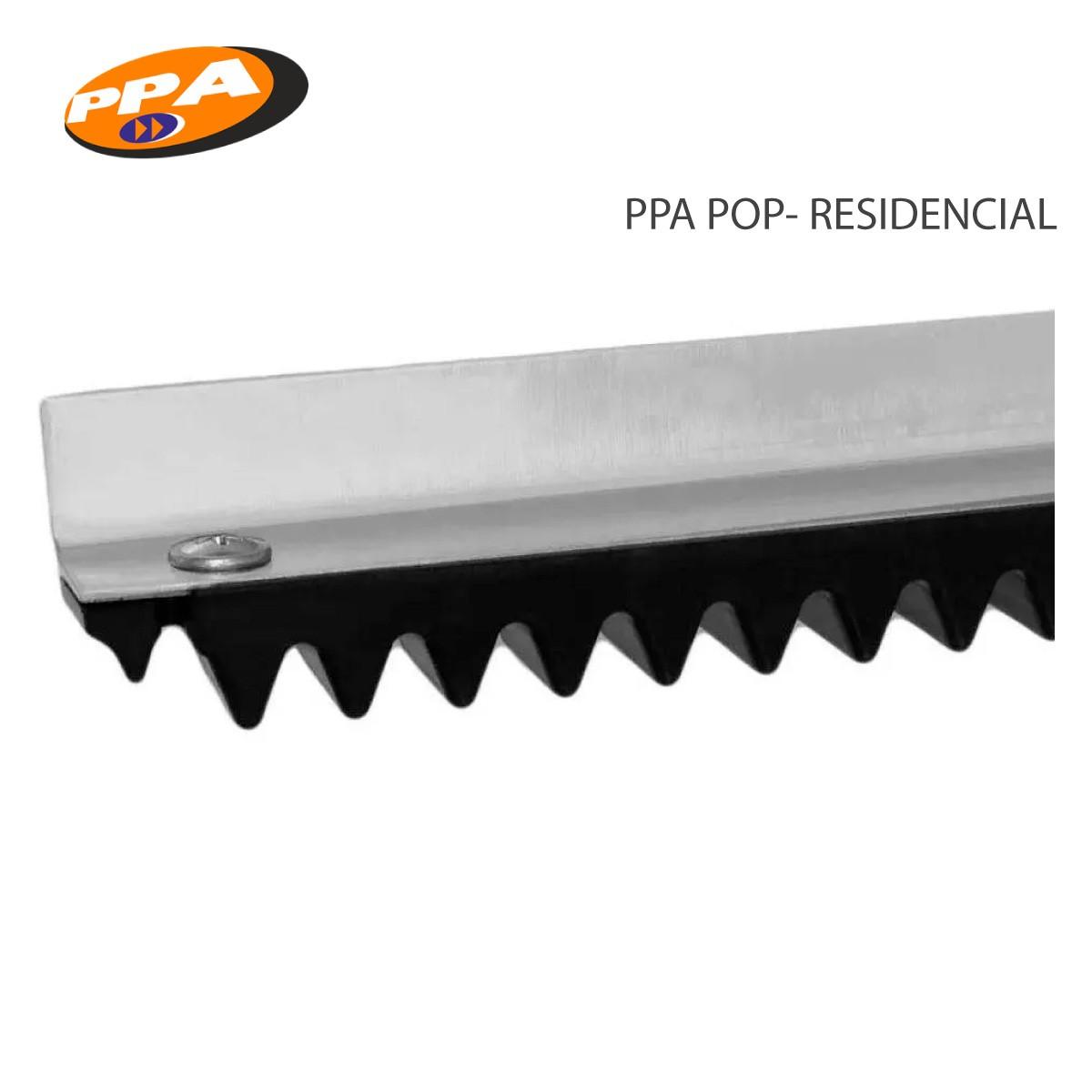 Barra Cremalheira POP Trilho - Portão Deslizante - Ppa 3m  - GO AUTOMAÇÃO