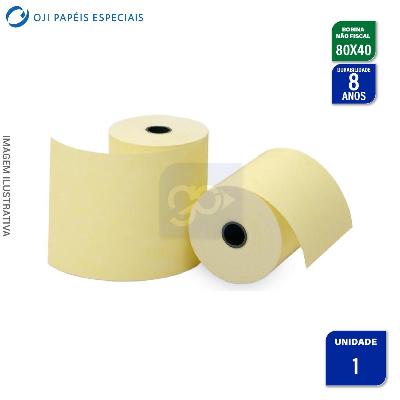 Bobina Térmica Impressora Não Fiscal 80mm x40m por Unidade  - GO AUTOMAÇÃO