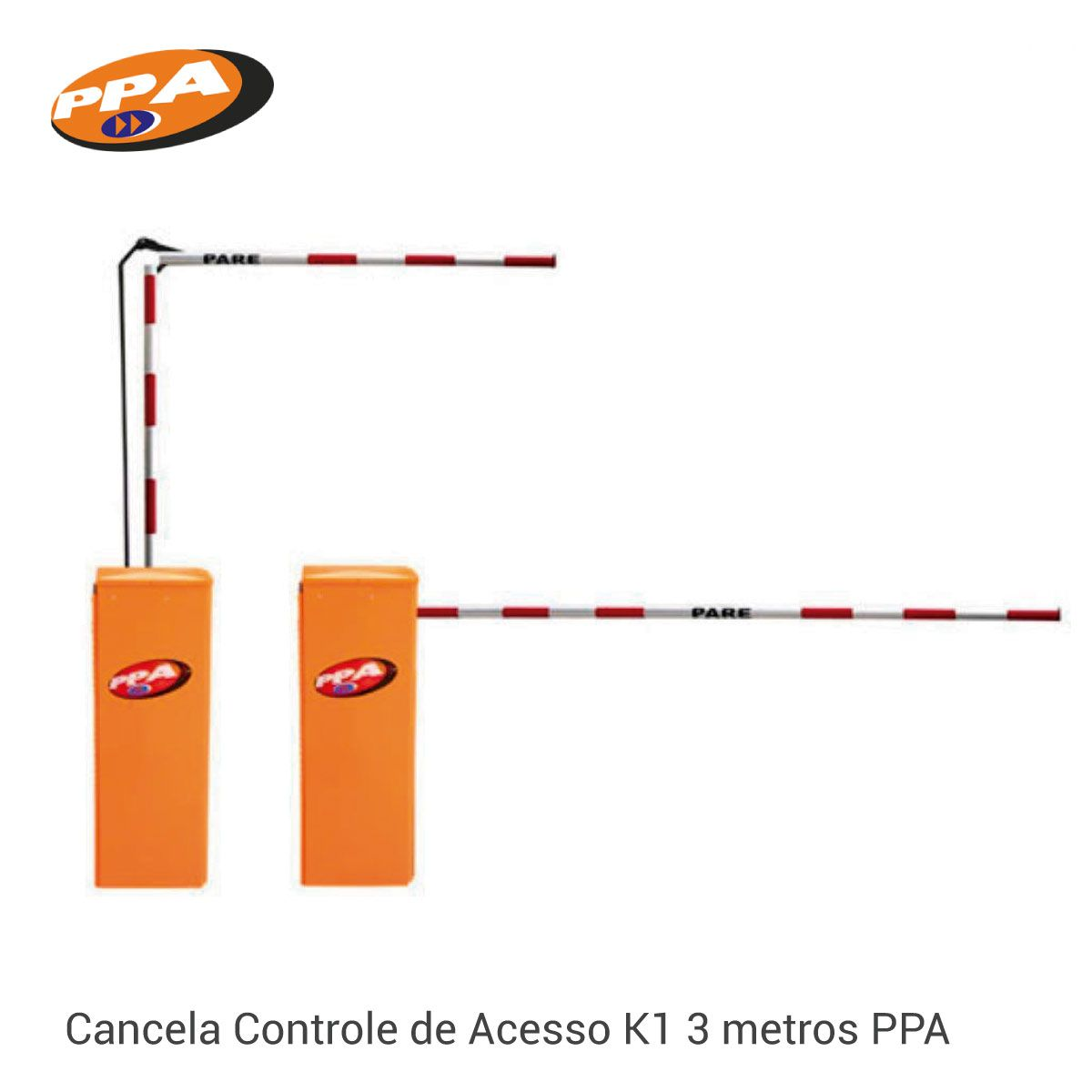 Cancela Controle de Acesso K1 3 metros PPA