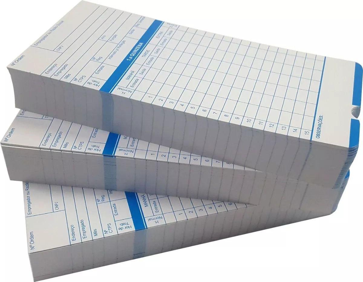 Cartão de Ponto Relógio Cartográfico - 500 Unidades  - GO AUTOMAÇÃO