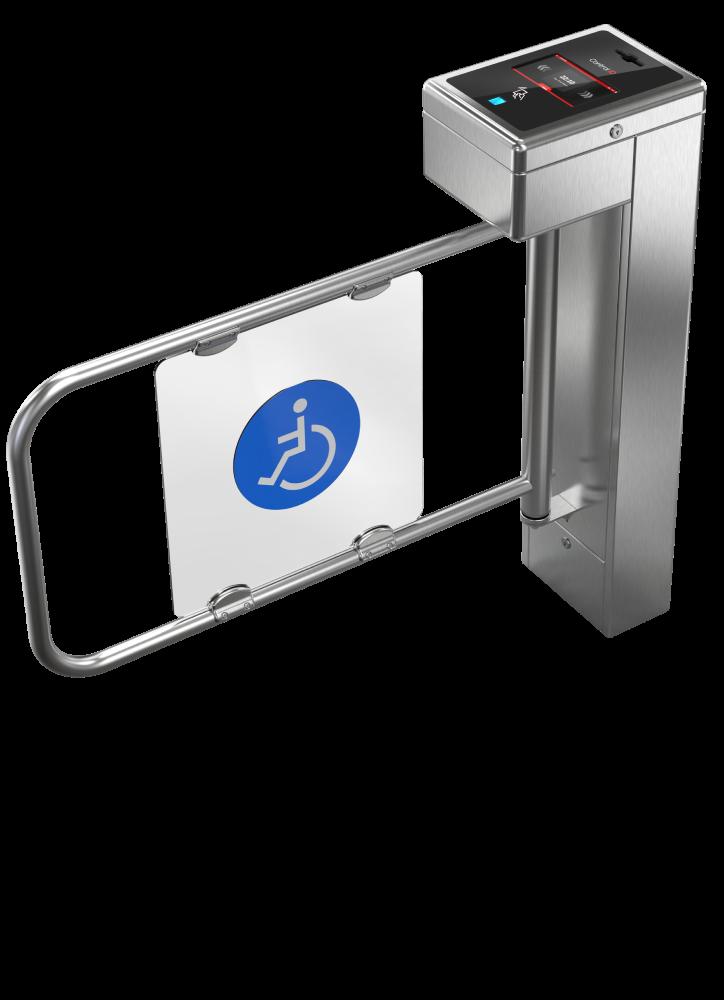 Catraca iD Block PNE Inox Control iD- Proximidade 125khz + Biometria S/Urna