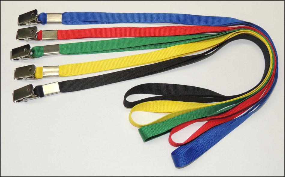 Cordão Para Crachá 10 Unid (Vários Cores, Azul, Preto, Vermelho, Verde E Amarelo)