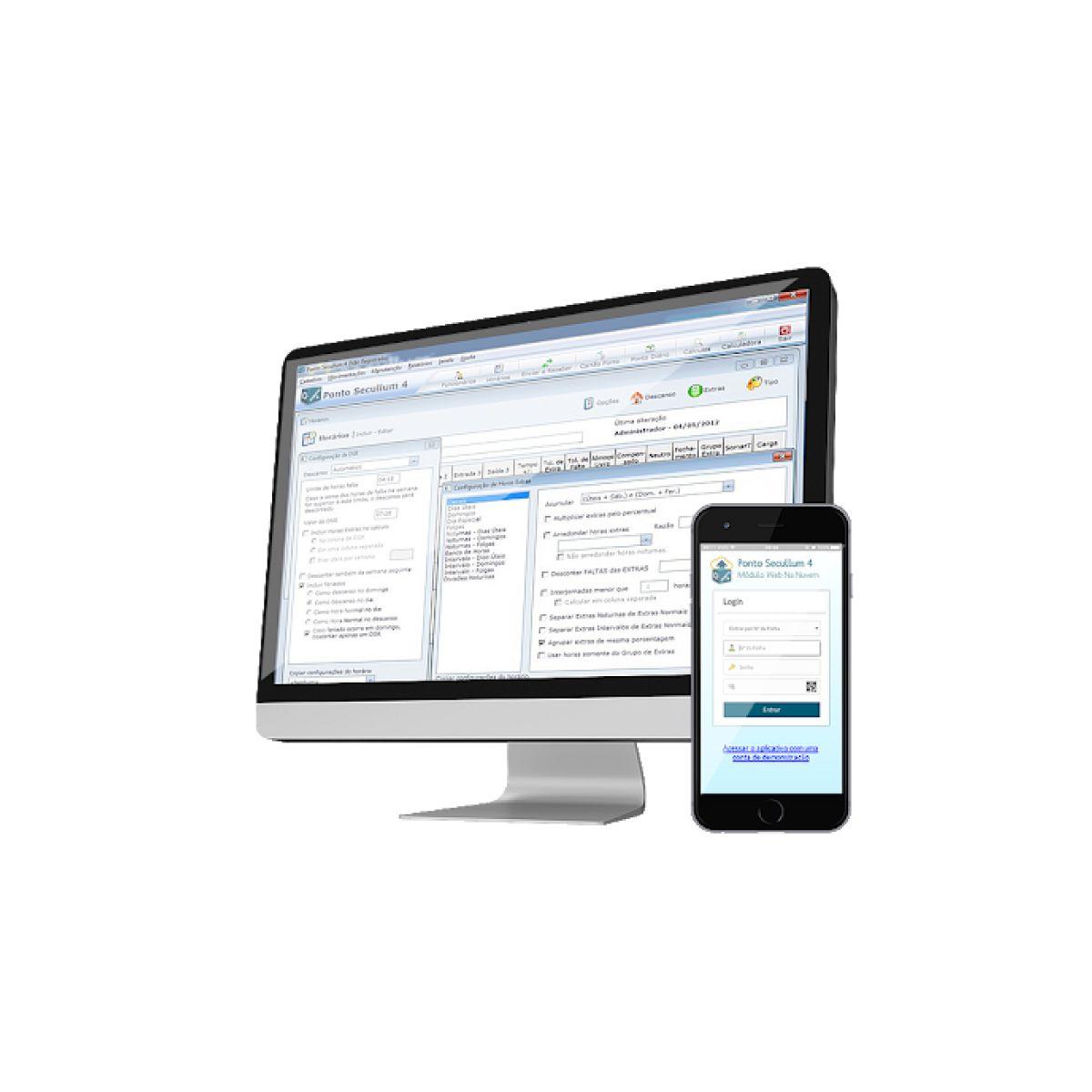 Gestão Home Office Secullum Web P/20 Funcionários Com Suporte