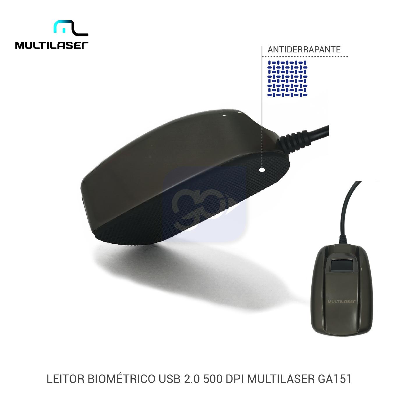 Leitor Biométrico Digital Multilaser GA151  - GO AUTOMAÇÃO