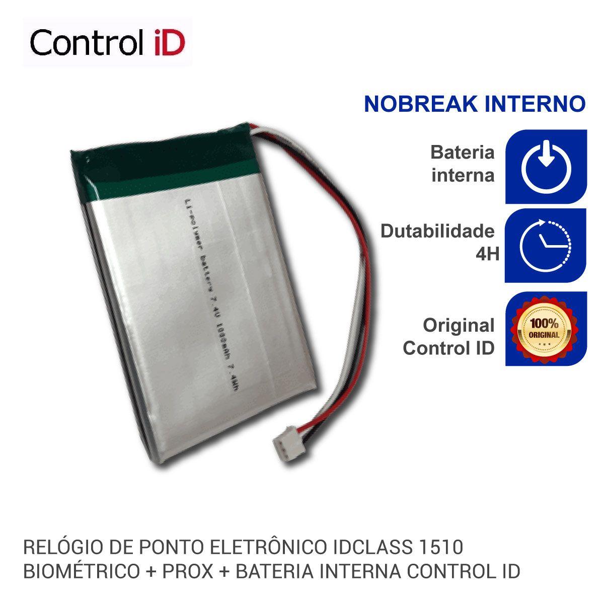 NOBREAK - Bateria para Relógio de Ponto Eletrônico Control iD ...