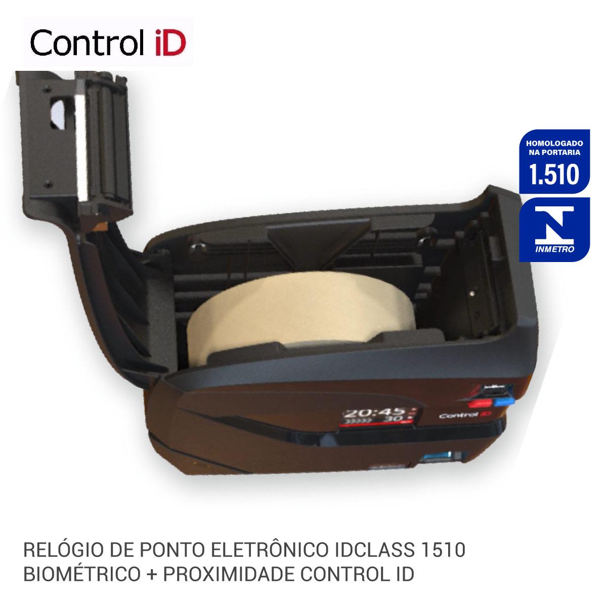 Relógio de Ponto Eletrônico  iDClass 1510 Biométrico + Prox Control iD+NOBREAK