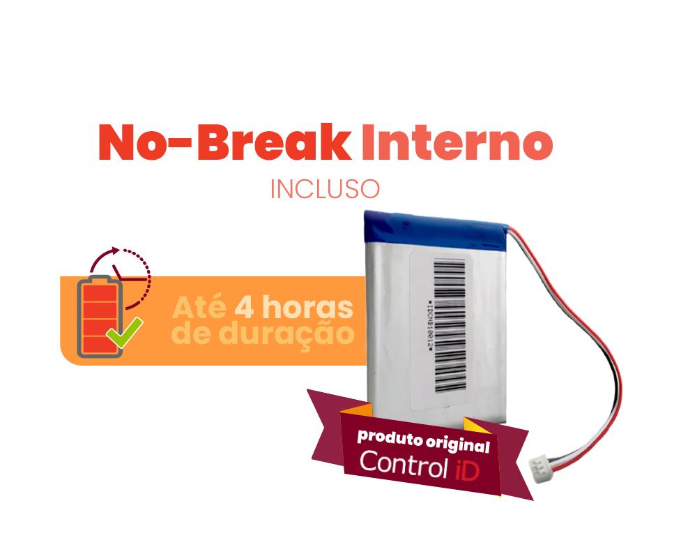 Relógio de Ponto Eletrônico iDClass 373 Biométrico + Prox +NOBREAK Control iD   - GO AUTOMAÇÃO