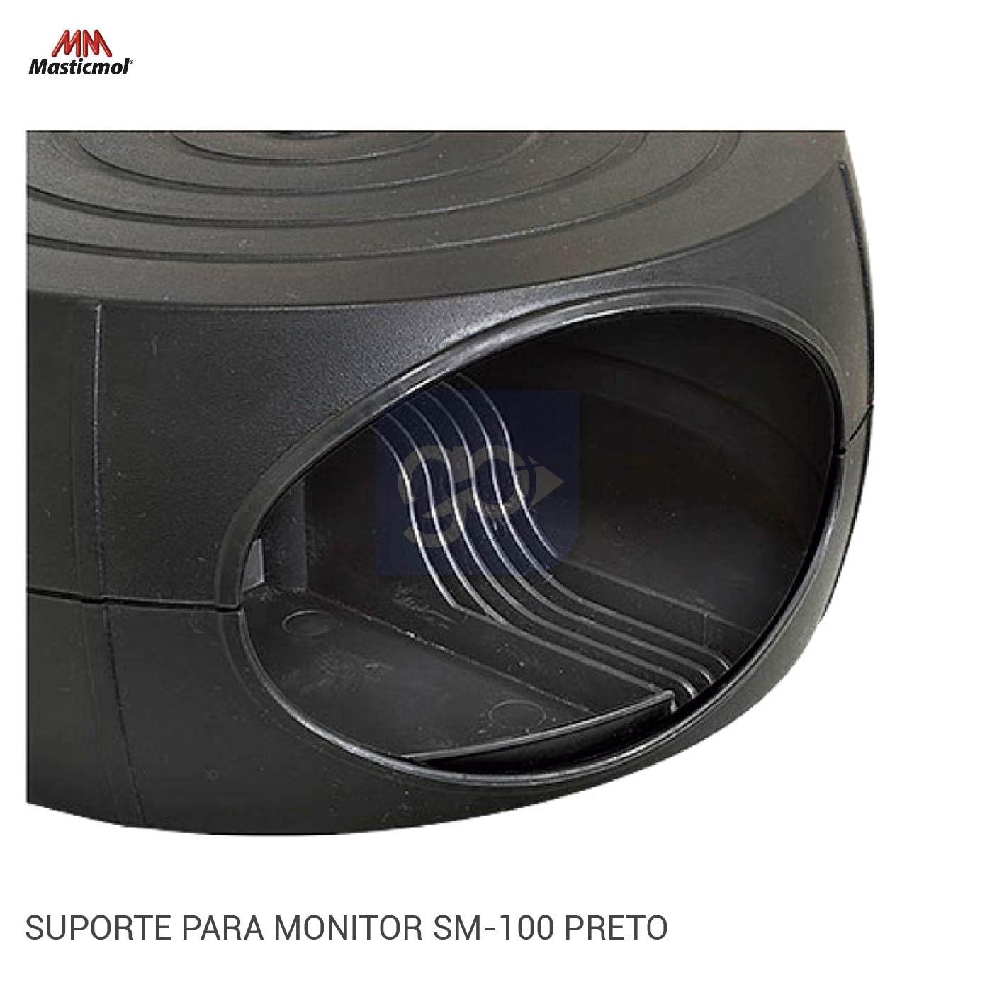Suporte Para Monitor Sm-100 Preto - Masticmol  - GO AUTOMAÇÃO