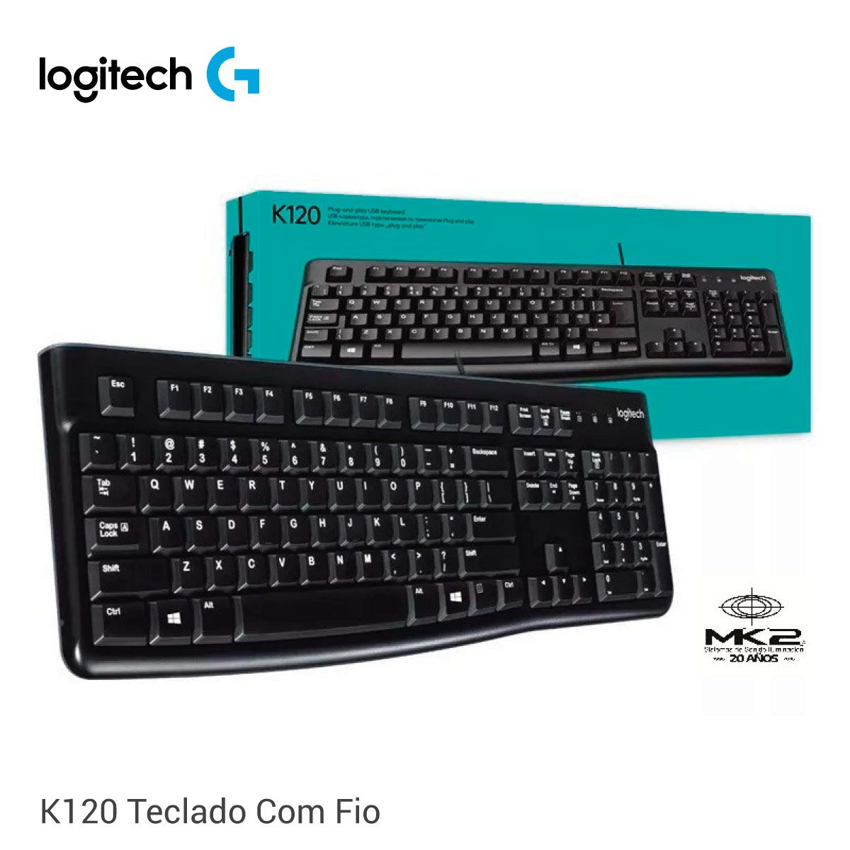 Teclado Longitec K120 Com Fio