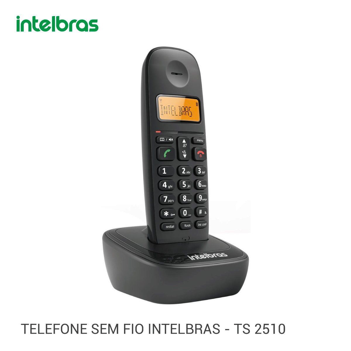 Telefone Sem Fio Intelbras Ts2510 Display Id. Digital
