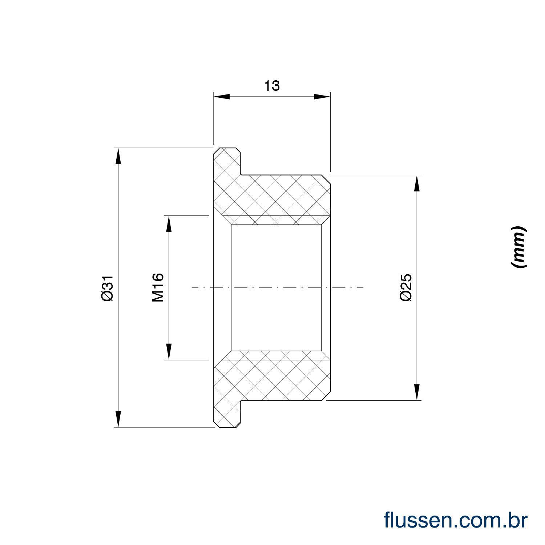 Kit 04 LA16M-40 + 04 Adaptador PVC