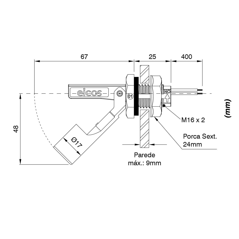 Kit 10 LA16M-40 + 10 Adaptador PVC