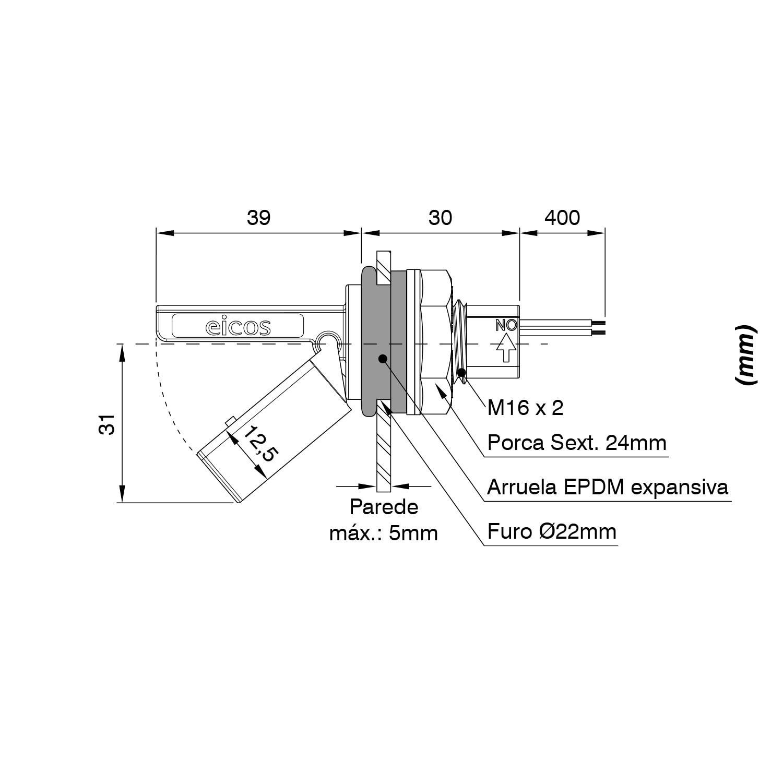 Kit Controle De Nível Para Radiador (lf222e-40 Icos + Led)