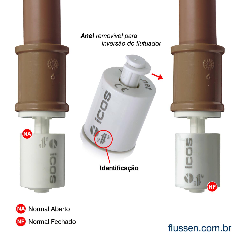 Kit Sensor De Nível Icos Lv42a-40 Para Poço