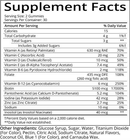 Sugar Bear Hair Vitamins 60 Gomas