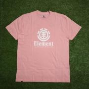 Camiseta element vertical rosa claro 0396