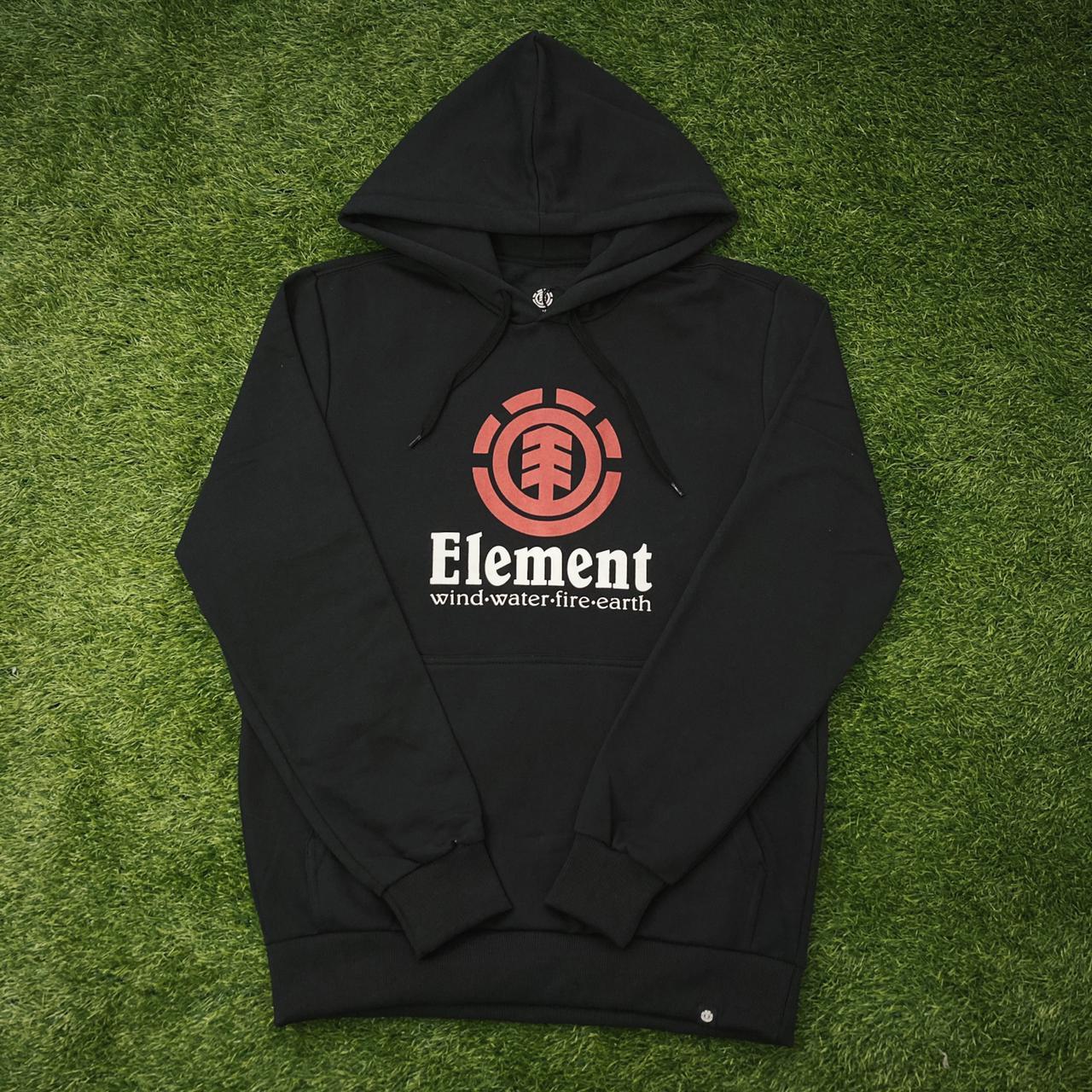 Blusa moletom element fechado vertical preto
