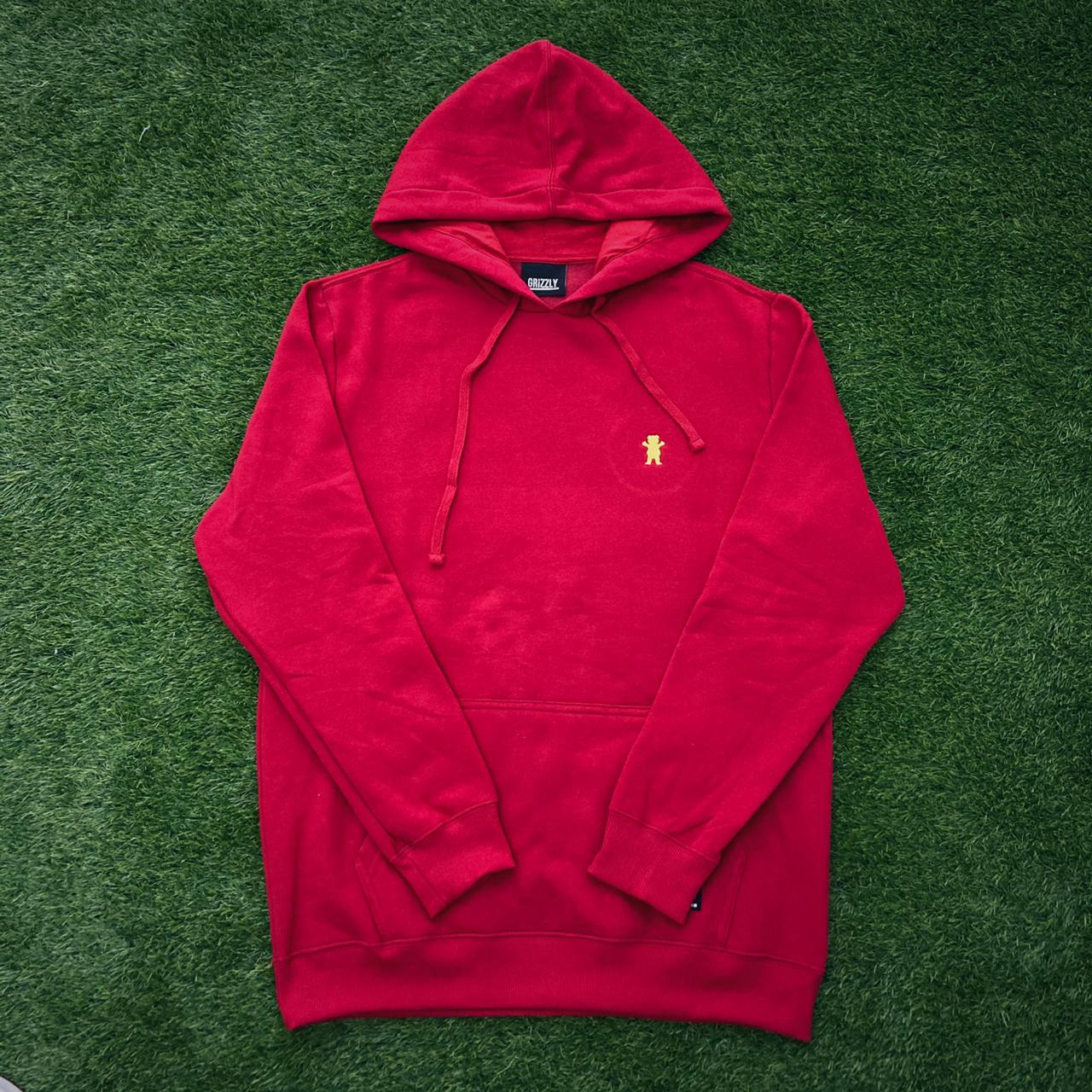 Blusa moletom grizzly og bear embroidery red