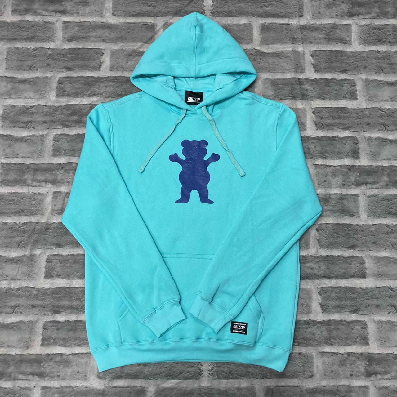 Blusa moletom grizzly og bear pullover hoodie celadon