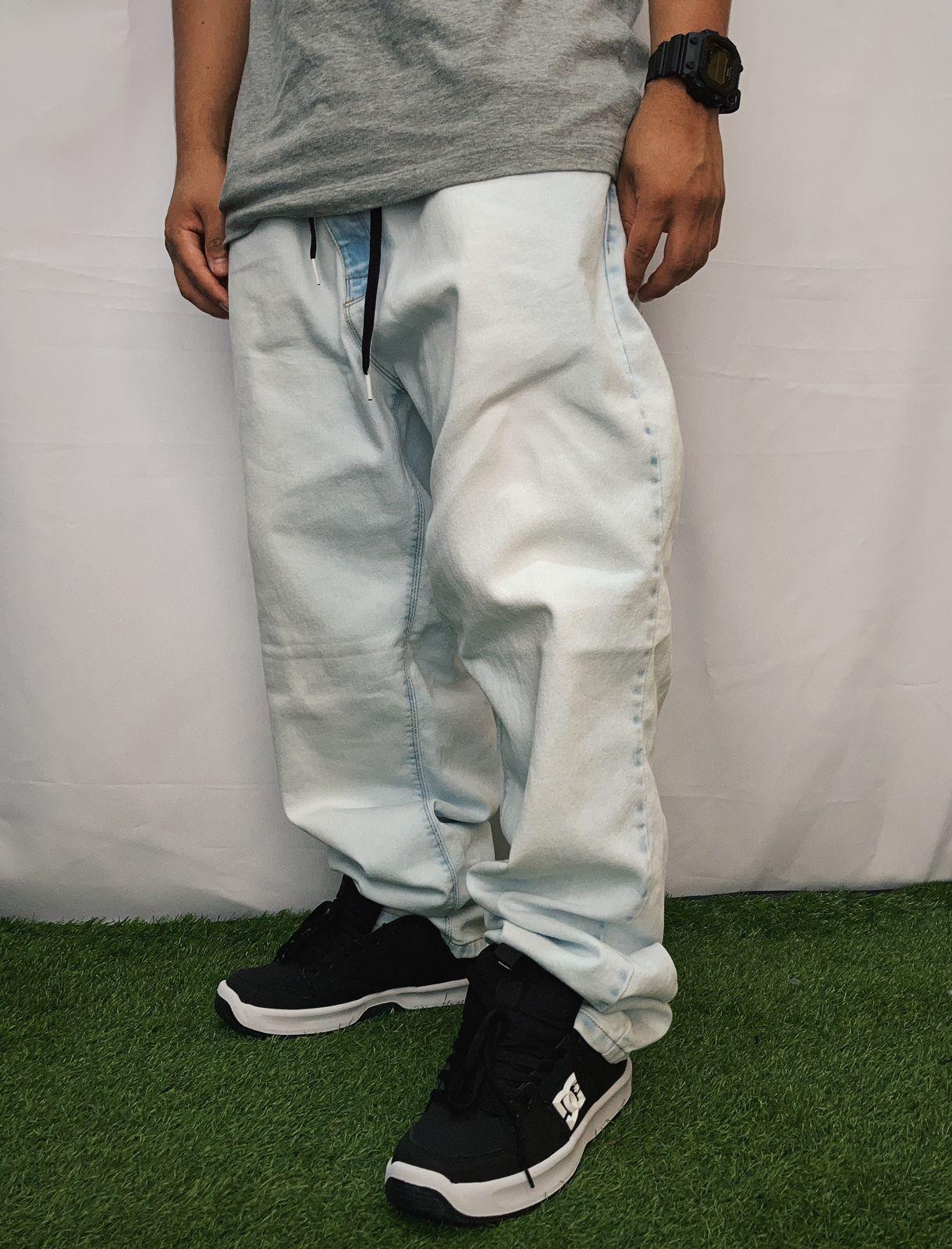 Calça hocks jeans claro jazz extra large