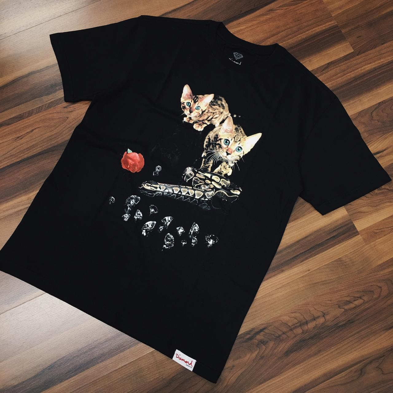 Camiseta diamond cat