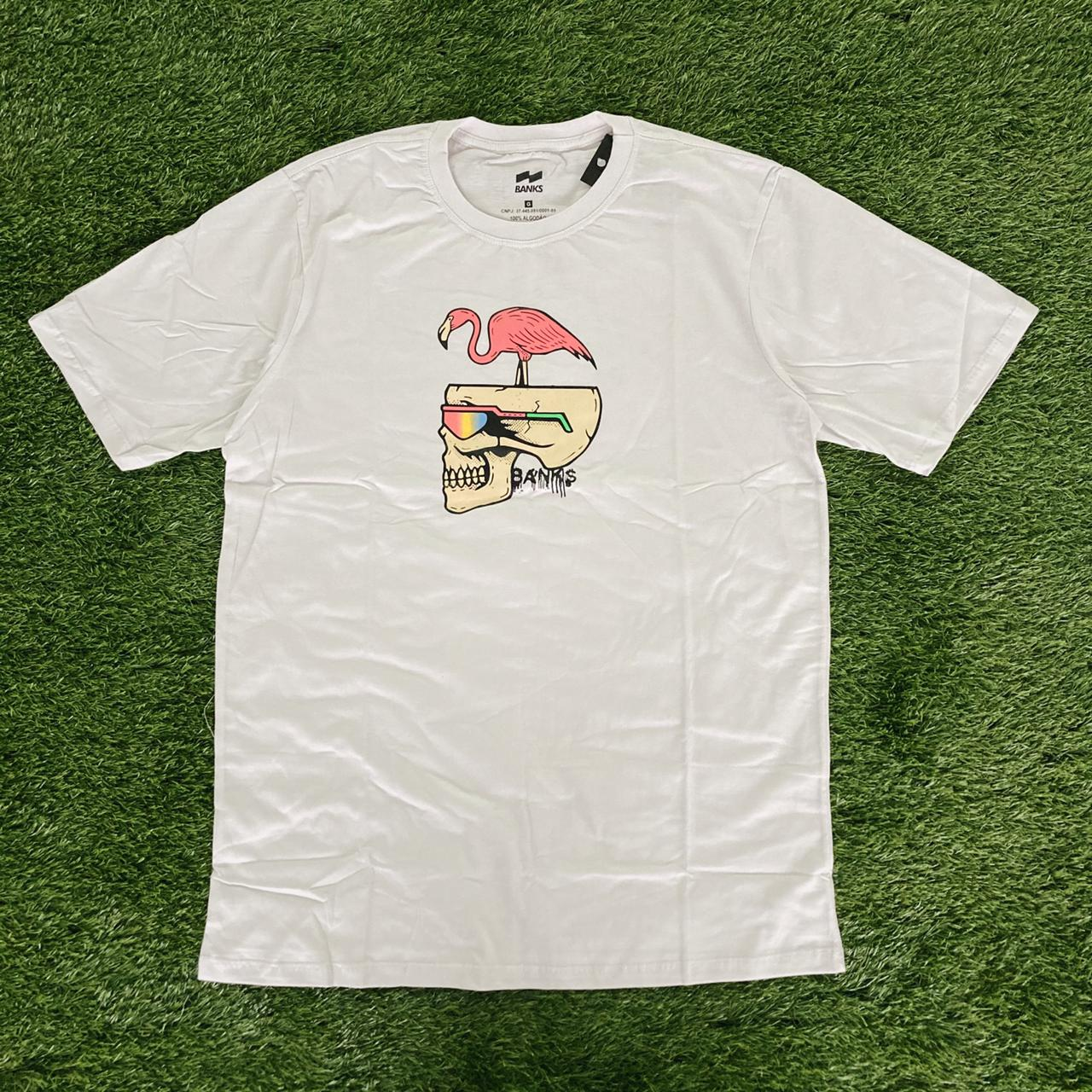 Camiseta banks cav flamingo branca