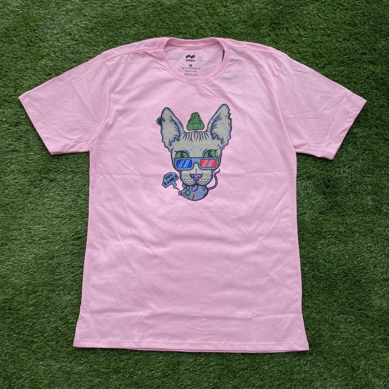 Camiseta banks gato pink