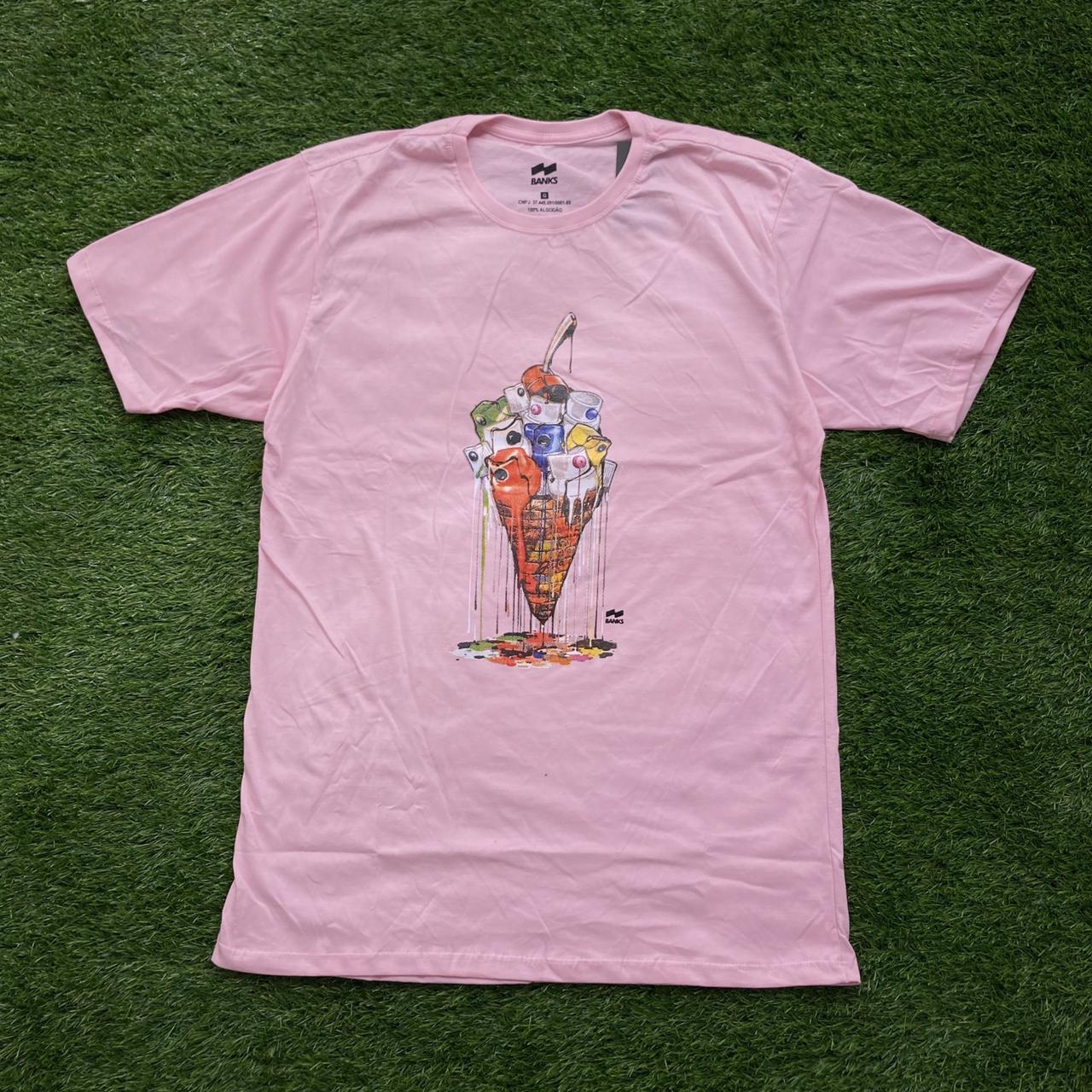 Camiseta banks sorvete cap pink