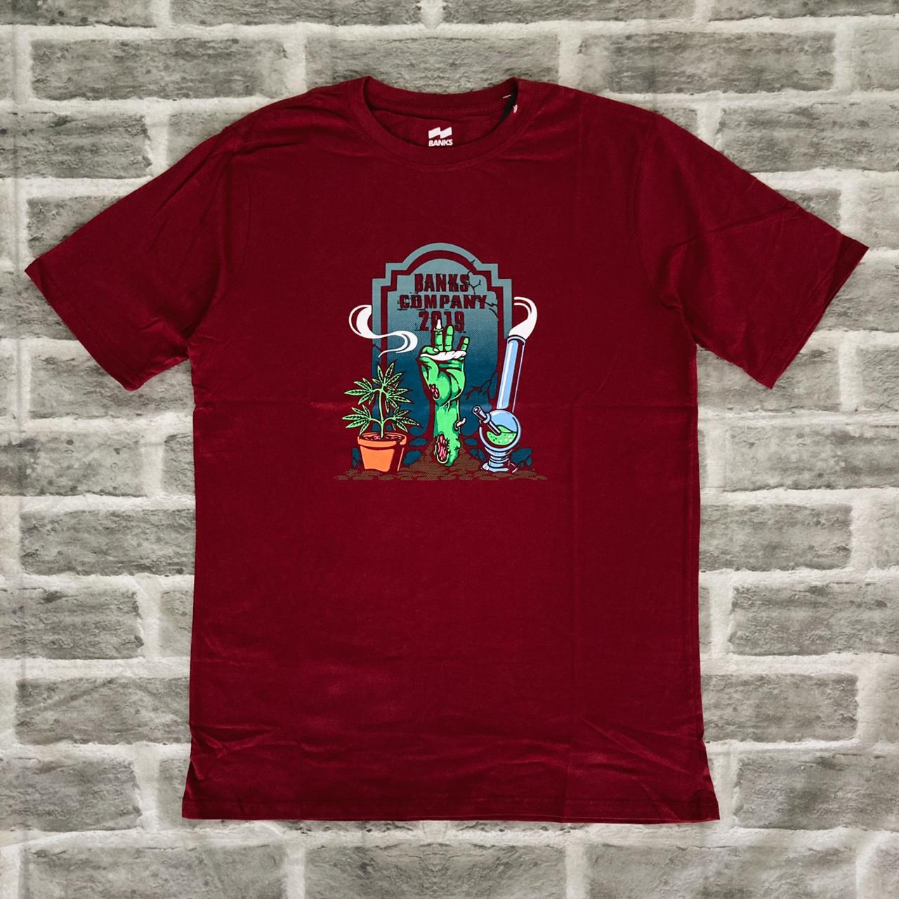 Camiseta banks zumbi bordo