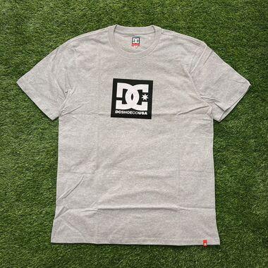 Camiseta dc square star cinza mescla 0080