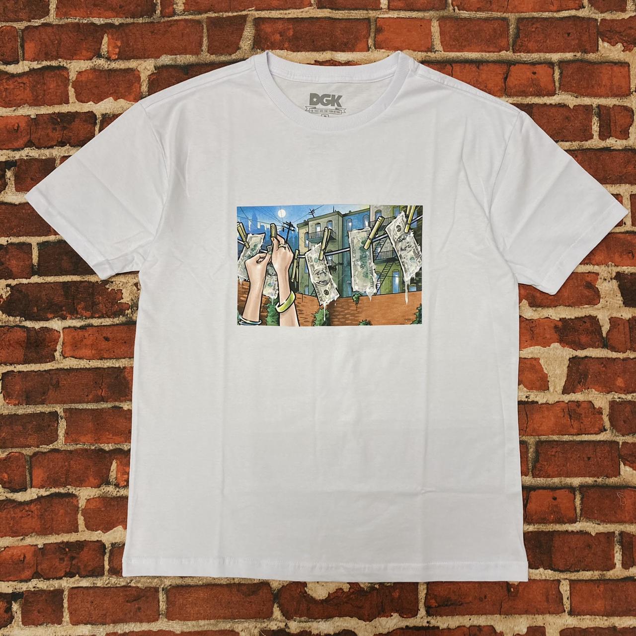 Camiseta dgk laundry white