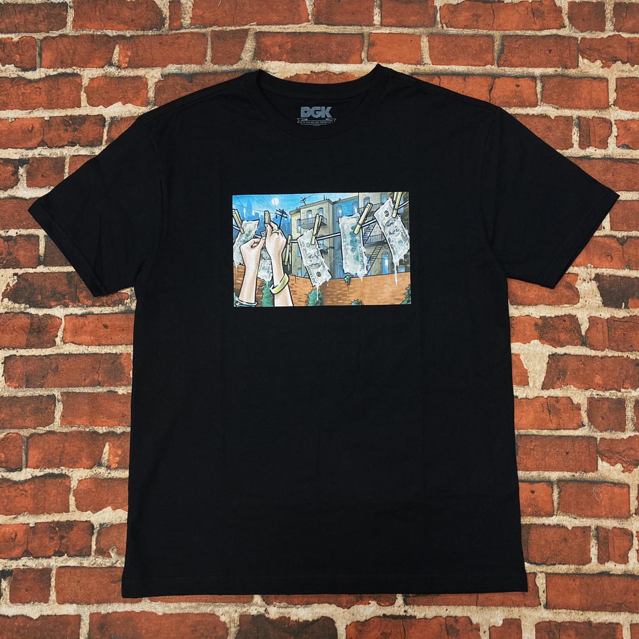 Camiseta dgk loundry black
